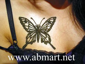 ヘナタトゥー蝶